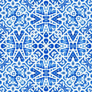Scandinavian Lace in cobalt blue - Large Scale