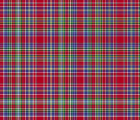 "Hunter red tartan, 12"" fabric by weavingmajor on Spoonflower - custom fabric"