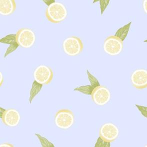 Lemons on Baby Blue