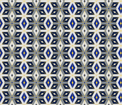 North stars fabric by mercedespatterns on Spoonflower - custom fabric