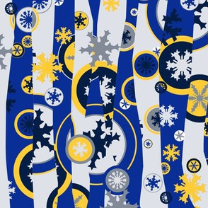Snowed Under Mod - blue & yellow