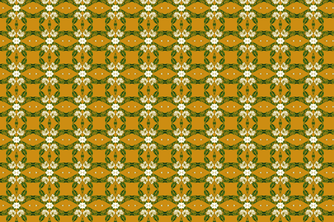 Mustard Gold Mountain Laurel fabric by kumate on Spoonflower - custom fabric