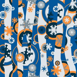 Snowed Under Mod - blue & orange