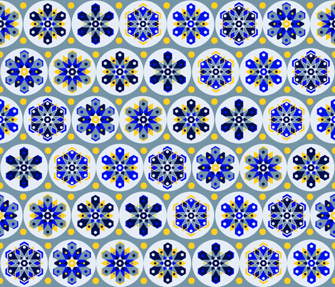 mod about snow fabric by kfay on Spoonflower - custom fabric