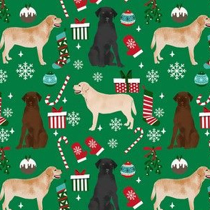 Labrador Retrievers dog breed fabric christmas stockings pet lovers holiday green