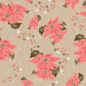 Poinsettias dark pink