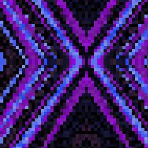 Blue Purple and Black Pixels