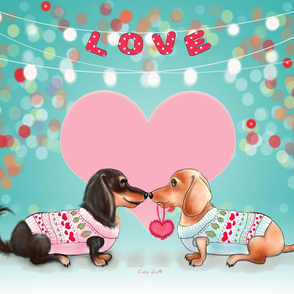 Doxie Valentine's Party Panel