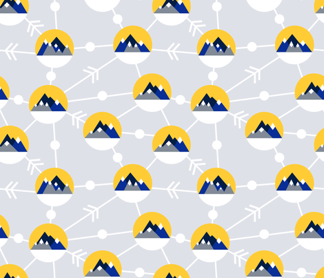 mountain sunset fabric by rebeccagabrielle on Spoonflower - custom fabric