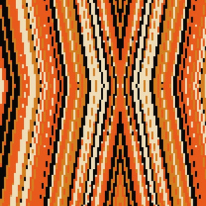 orange and black pixels