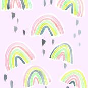 rainbow pastel pink cutout