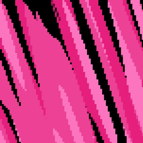 pink and black pixelated abstract