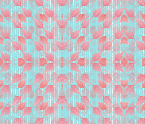 Boho Blush and Beads Aqua fabric by argenti on Spoonflower - custom fabric