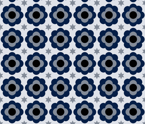 MOD POP FLOWERS fabric by bexmorley on Spoonflower - custom fabric