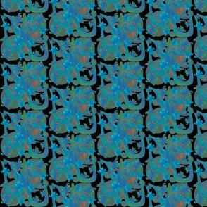 Black& Blue Butterflies