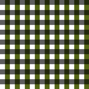 Olive Green and Black Plaid