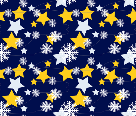 Snowflakes fabric by mememe on Spoonflower - custom fabric