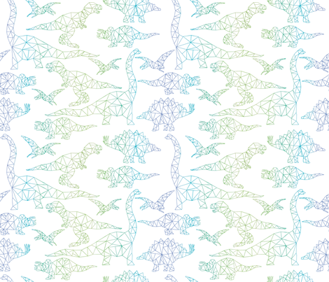 Jurassic 5 fabric by booboo_collective on Spoonflower - custom fabric