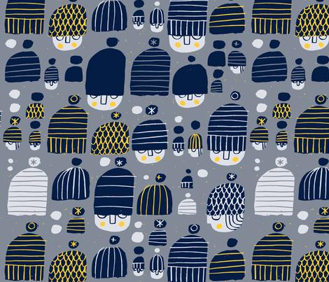 Mod Beanies fabric by mariaspeyer on Spoonflower - custom fabric