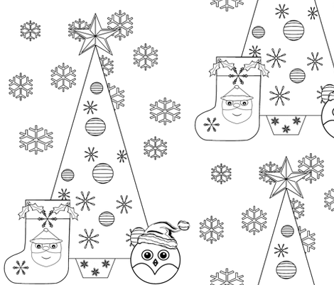 Coloring Book Comp fabric by flutterbi on Spoonflower - custom fabric