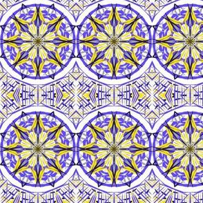 Bright Wintry Stars on Sunlit Tiles