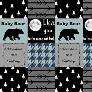 Mint Blue - Baby bear - Love you to the moon