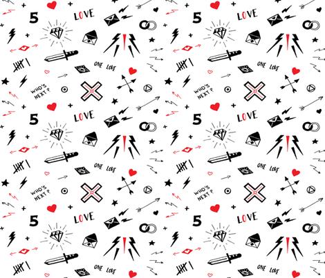 Love Tattoos fabric by hipkiddesigns on Spoonflower - custom fabric