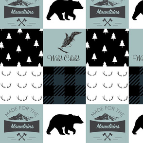 Bucks and bears mountain wholecloth