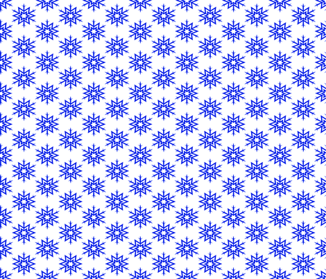 cobalt_snowflake fabric by seahouse_uk on Spoonflower - custom fabric