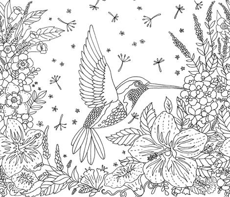 hummingbird bob fabric by katybobsyouraunty on Spoonflower - custom fabric