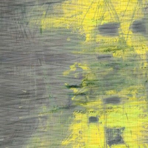 painterly cityscape slate yellow