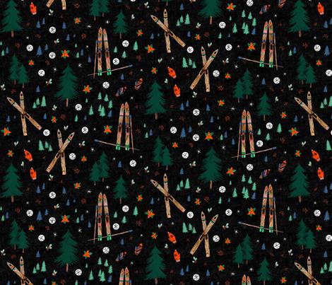 Hygge Wonderland in midnight fabric by wildship on Spoonflower - custom fabric