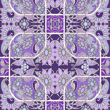 Blooming Purple Places fabric by edsel2084 on Spoonflower - custom fabric