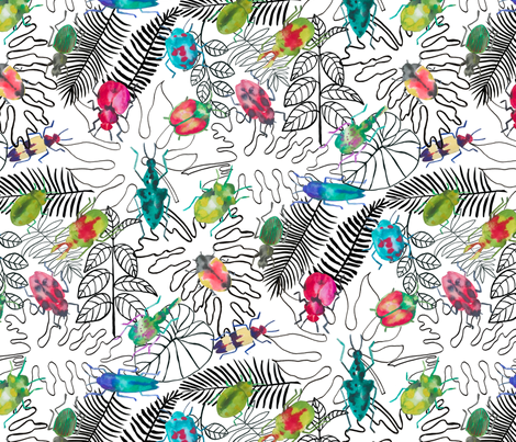 Bugs, bugs, bugs fabric by limezinniasdesign on Spoonflower - custom fabric