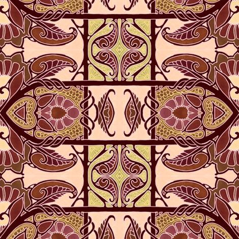 Milk Chocolate Brocade Raid fabric by edsel2084 on Spoonflower - custom fabric