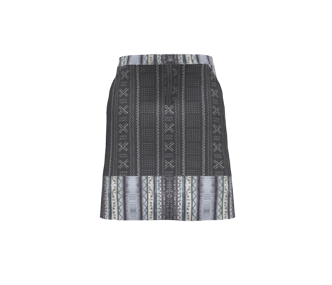 Mudcloth-Inspired Tribal Print 4 Black