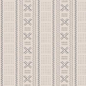 Mudcloth-Inspired Tribal Print 5Stone & Ash