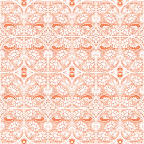 Flight of the Frisbee Flower Heads fabric by edsel2084 on Spoonflower - custom fabric