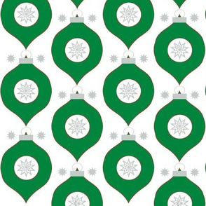 Green ornament Christmas wrap