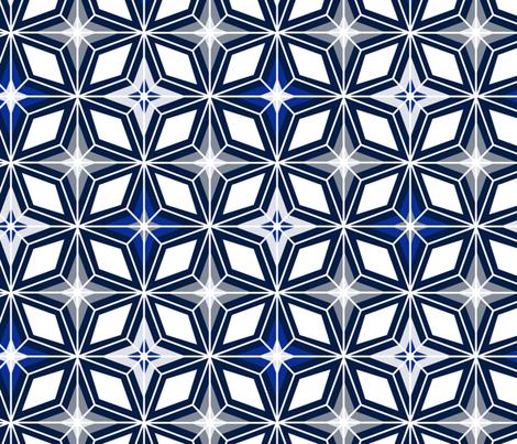 Nordic Star - Midcentury Modern Geometric Navy Grey  fabric by heatherdutton on Spoonflower - custom fabric