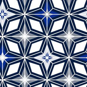 Nordic Star - Midcentury Modern Geometric Navy Grey