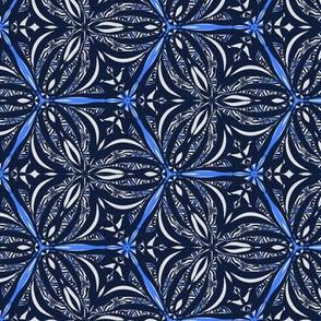 Animal print allover in blue