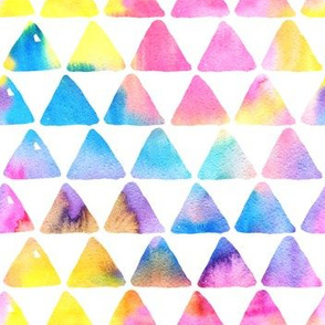 Watercolor triangles / rainbow