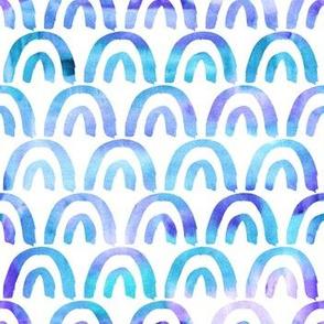 Watercolor blue scales