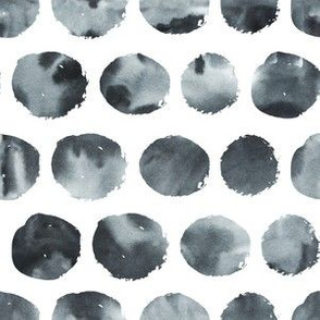 Watercolor black circles