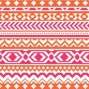 Colorful Bohemian Aztec Pattern