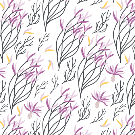 Flower branches fabric by julia_dreams on Spoonflower - custom fabric