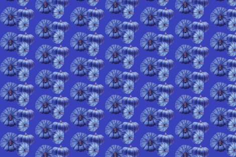 Blue Pumpkins fabric by coastrockworkshop on Spoonflower - custom fabric