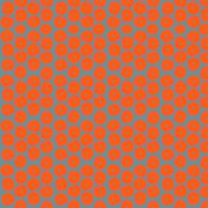 Mosaic Pumpkins on Gray