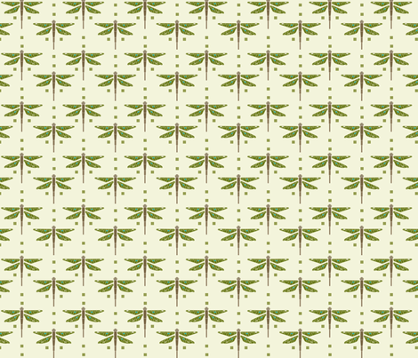 Dragonfly & Squares fabric by cindylindgren on Spoonflower - custom fabric